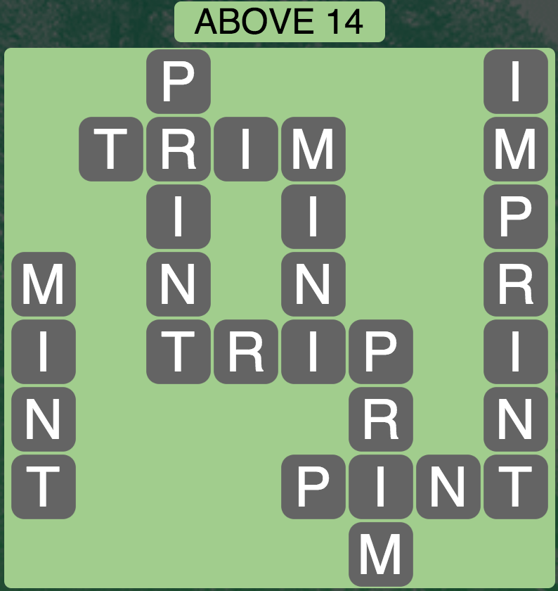 Wordscapes Above 14 - Level 1790 Answers