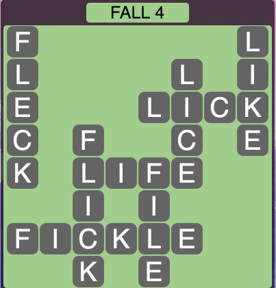 Wordscapes Fall 4 - Level 1796 Answers