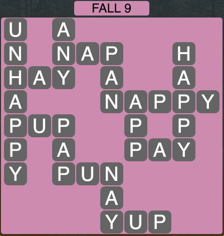 Wordscapes Fall 9 - Level 1801 Answers