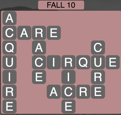 Wordscapes Fall 10 - Level 1802 Answers
