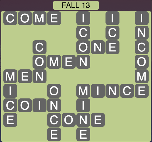 Wordscapes Fall 13 - Level 1805 Answers