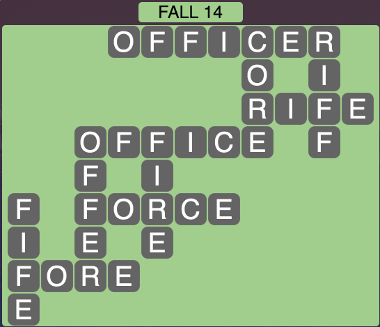 Wordscapes Fall 14 - Level 1806 Answers