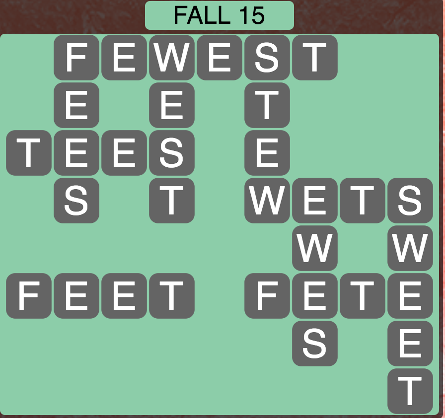 Wordscapes Fall 15 - Level 1807 Answers