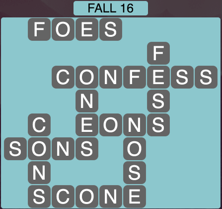 Wordscapes Fall 16 - Level 1808 Answers