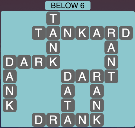Wordscapes Below 6 - Level 1814 Answers