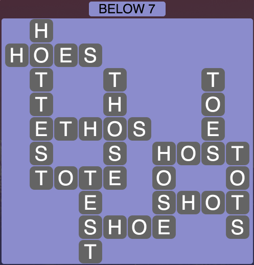 Wordscapes Below 7 - Level 1815 Answers