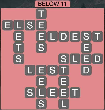 Wordscapes Below 11 - Level 1819 Answers