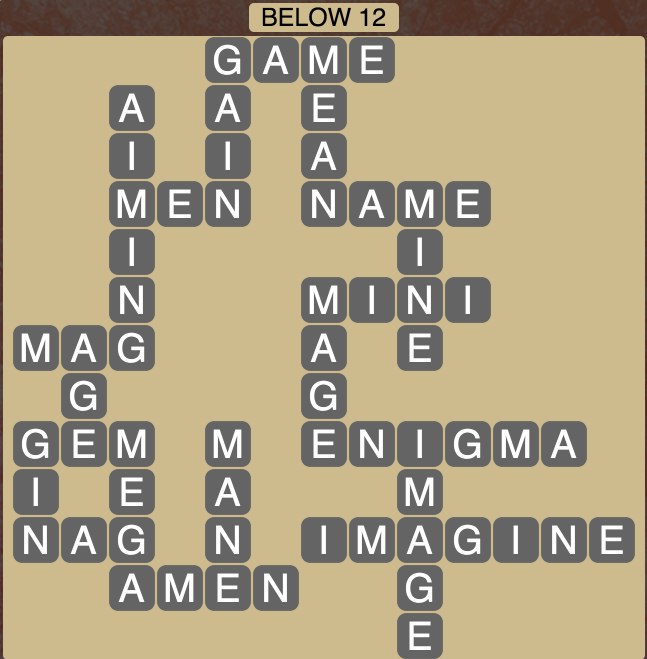 Wordscapes Below 12 - Level 1820 Answers
