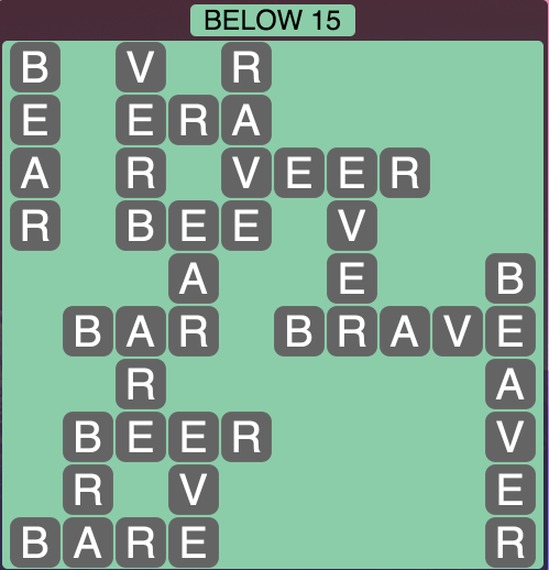 Wordscapes Below 15 - Level 1823 Answers
