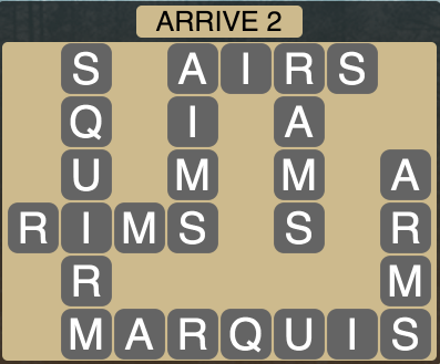 Wordscapes Arrive 2 - Level 1826 Answers