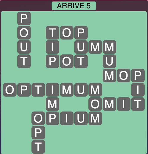 Wordscapes Arrive 5 - Level 1829 Answers