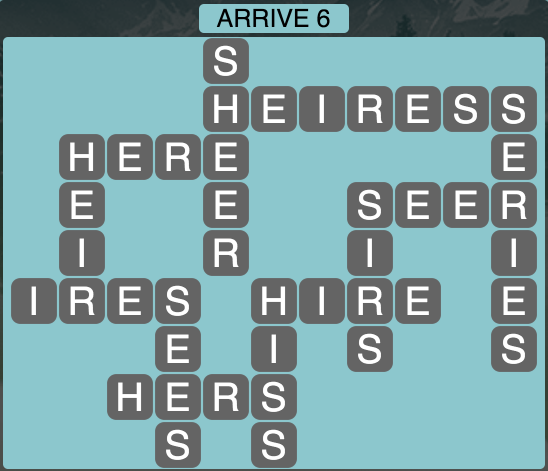 Wordscapes Arrive 6 - Level 1830 Answers