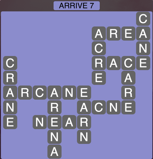 Wordscapes Arrive 7 - Level 1831 Answers