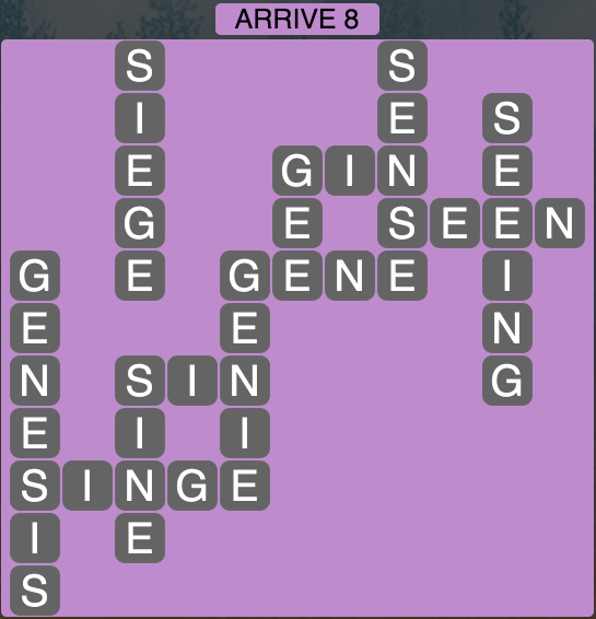 Wordscapes Arrive 8 - Level 1832 Answers