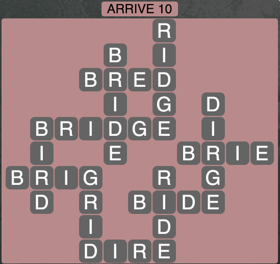 Wordscapes Arrive 10 - Level 1834 Answers
