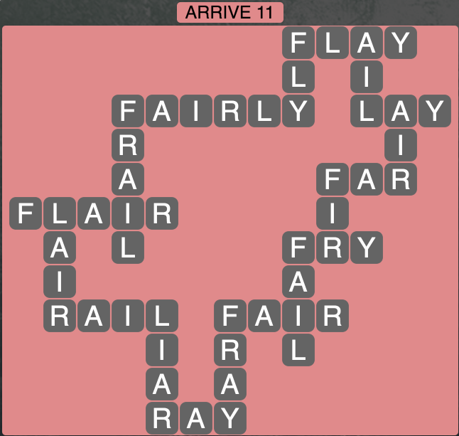 Wordscapes Arrive 11 - Level 1835 Answers