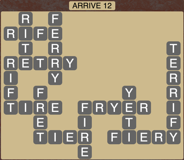 Wordscapes Arrive 12 - Level 1836 Answers