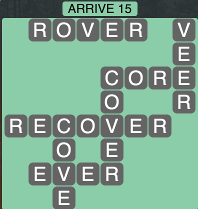 Wordscapes Arrive 15 - Level 1839 Answers
