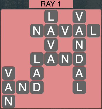 Wordscapes Ray 1 - Level 1841 Answers