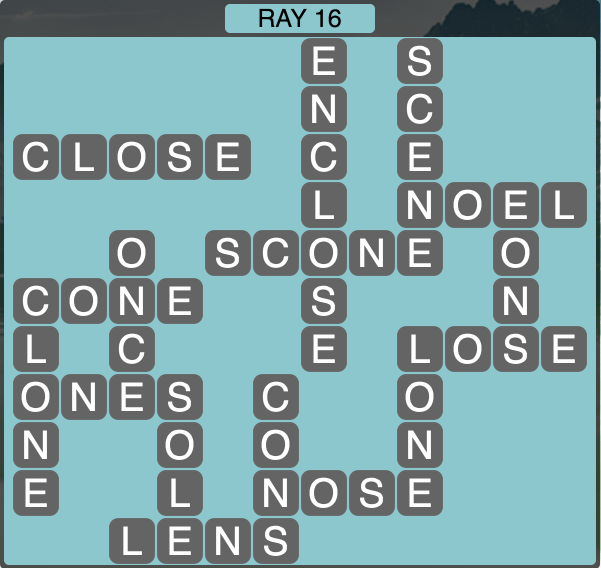 Wordscapes Ray 16 - Level 1856 Answers