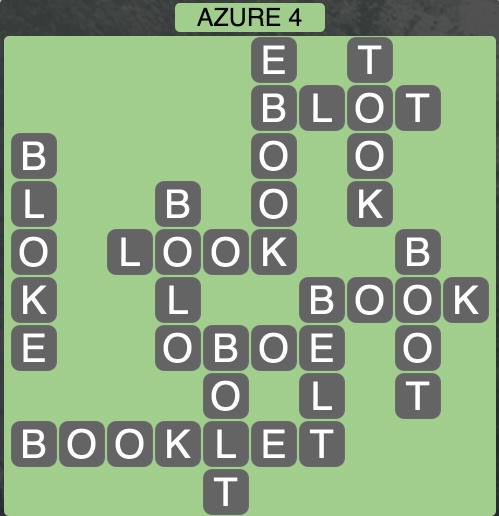 Wordscapes Azure 4 - Level 1860 Answers