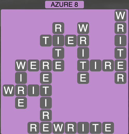 Wordscapes Azure 8 - Level 1864 Answers