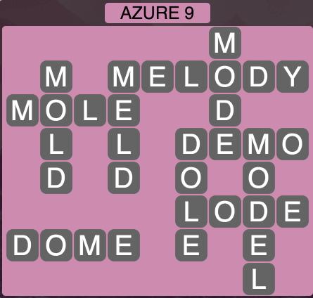 Wordscapes Azure 9 - Level 1865 Answers
