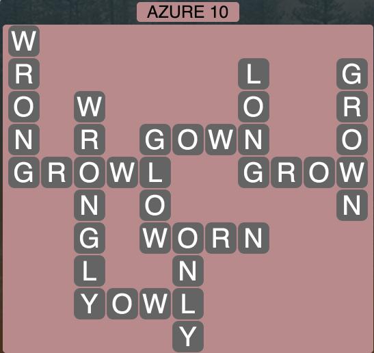 Wordscapes Azure 10 - Level 1866 Answers
