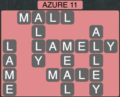Wordscapes Azure 11 - Level 1867 Answers