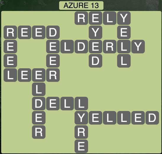 Wordscapes Azure 13 - Level 1869 Answers