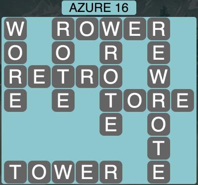 Wordscapes Azure 16 - Level 1872 Answers