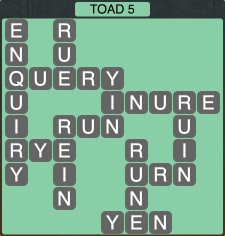Wordscapes Toad 5 - Level 1877 Answers