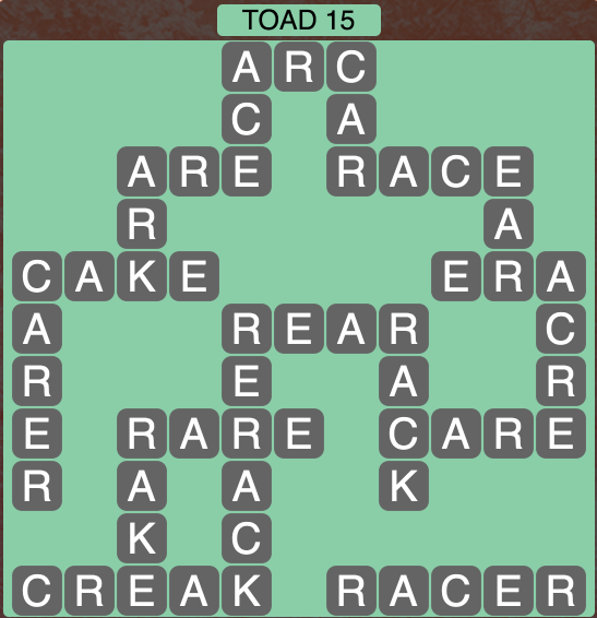 Wordscapes Toad 15 - Level 1887 Answers