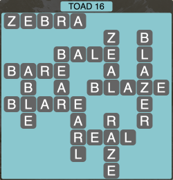 Wordscapes Toad 16 - Level 1888 Answers