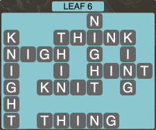 Wordscapes Leaf 6 - Level 1910 Answers