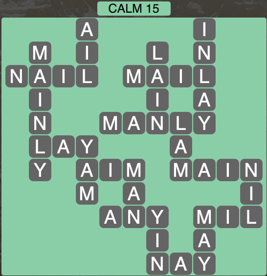Wordscapes Calm 15 - Level 1935 Answers