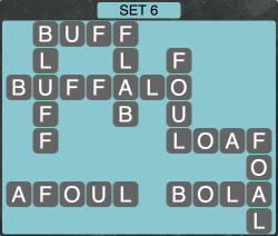 Wordscapes Formation Set 6 - Level 1942 Answers