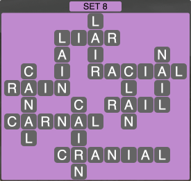 Wordscapes Formation Set 8 - Level 1944 Answers