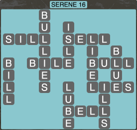 Wordscapes Formation Serene 16 - Level 1968 Answers