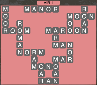 Wordscapes Formation Air 1 - Level 1969 Answers