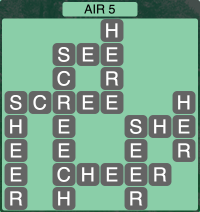 Wordscapes Formation Air 5 - Level 1973 Answers