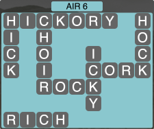 Wordscapes Formation Air 6 - Level 1974 Answers