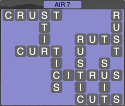 Wordscapes Formation Air 7 - Level 1975 Answers