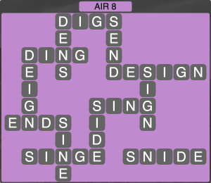 Wordscapes Formation Air 8 - Level 1976 Answers
