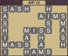 Wordscapes Formation Air 12 - Level 1980 Answers