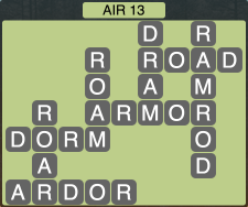 Wordscapes Formation Air 13 - Level 1981 Answers