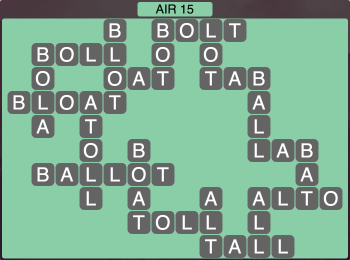 Wordscapes Formation Air 15 - Level 1983 Answers