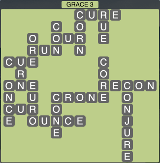 Wordscapes Formation Grace 3 - Level 1987 Answers