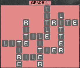 Wordscapes Formation Grace 11 - Level 1995 Answers