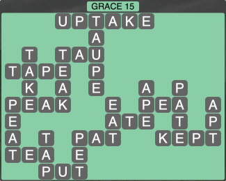 Wordscapes Formation Grace 15 - Level 1999 Answers